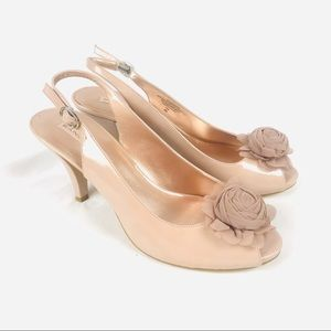 NEW! Bandolino blush nude peep toe slingback heels